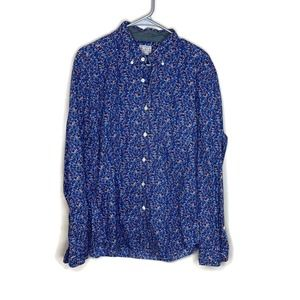 J. Crew men's tailored button down blue shirt L